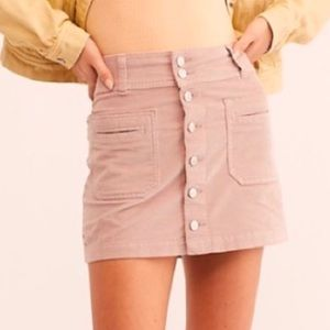 Free People Joanie Corduroy Mini Skirt